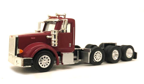 Herpa 006579 HO Peterbilt 367 Day Cab in Burgundy Cab Only Plastic Model Kit