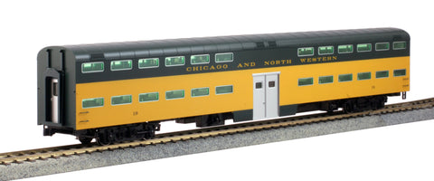 Kato 35-6043 HO Chicago & North Western Bi-Level 6-Window Coach #19