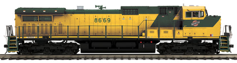 MTH 20-21148-1 O Chicago & North Western Hi-Rail Dash-9 with PS3 #8669