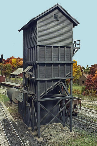 Lehigh Valley Models LVM 3 S 100-Ton Coaling Station Building Kit