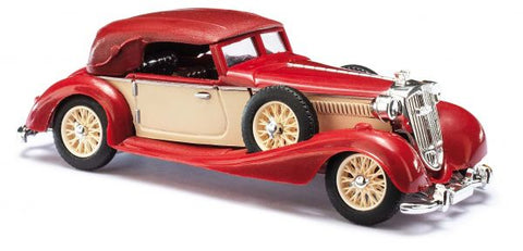 Busch 41320 HO 1933 Horch 853 Top Up Red Convertible Scale Model Car