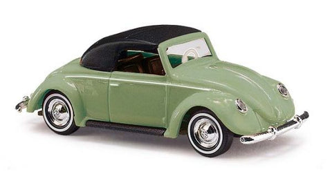 Busch 46733 HO 1949 Volkswagen Top Up Beetle Convertible Scale Model Car