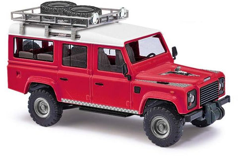 Busch 50360 HO 1983 Land Rover Defender Red/White SUV