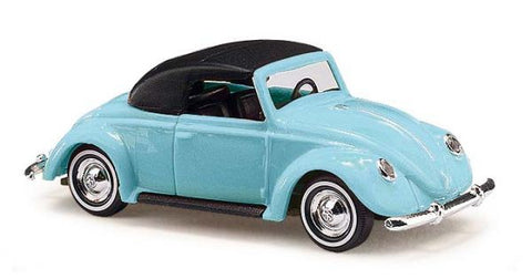 Busch 46732 HO 1949 Volkswagen Top Up Red Beetle Convertible Scale Model Car