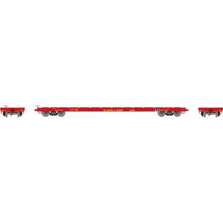 Athearn 92685 HO Delaware & Hudson 60' Ready-to-Run Flat Car #16144
