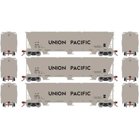 Athearn G15813 HO Union Pacific ACF 4600 3-Bay Centerflow Hopper (Pack of 3)