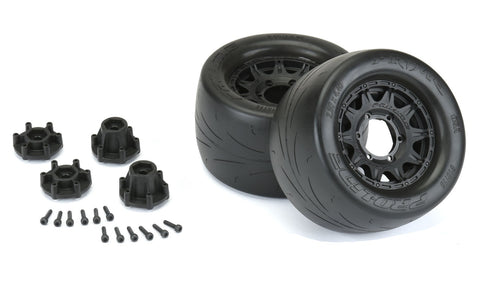 "Pro-Line Racing 10116-10 Prime 2.8"" Street Tires Mounted"