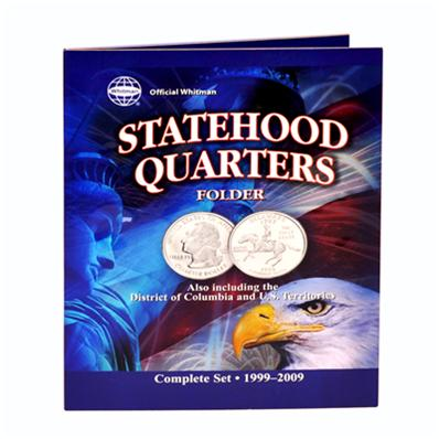Whitman 8097 Official Statehood Quarters Folder Complete Set 1999-2009