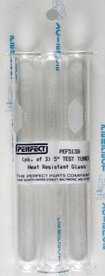 "Perfect Science 513B Test Tube 5/8"" x 5"" (Pack of 3)"