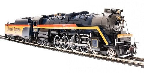 Broadway Limited 5774 HO Chessie System Reading T1 4-8-4 Steam Locomotive #2101