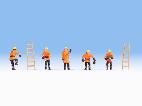 Noch 36022 N Fire Brigade Orange Cloth with Ladders (Pack of 5)