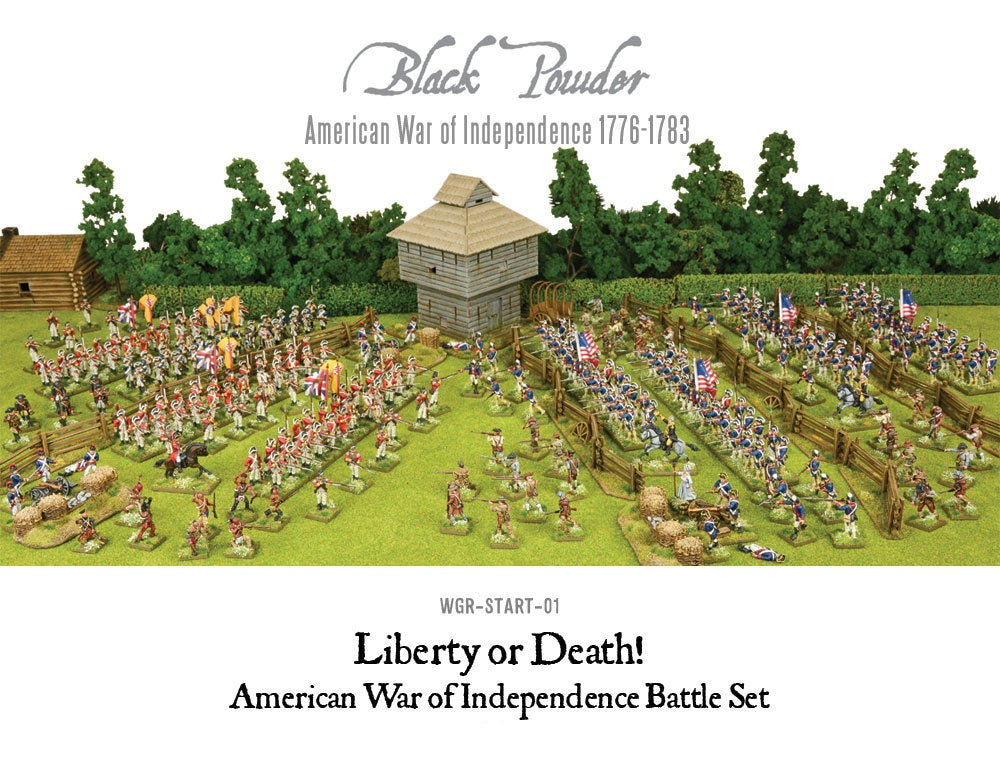 Warlord Games WGR-START-01 Black Powder Liberty or Death American War of Independence Battle Set