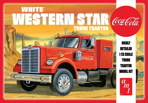AMT 1160 1:25 Coca-Cola White Western Star Semi Tractor Plastic Model Kit