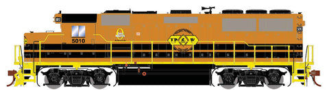 Athearn G65803 HO GP50 Phase 1 w/DCC/SND,TP&W/Orange & Black#5010