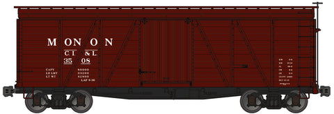 Accurail 1165 HO Chicago, Indianapolis and Louisville (Monon) 36' Fowler Wood Boxcar Kit #3508