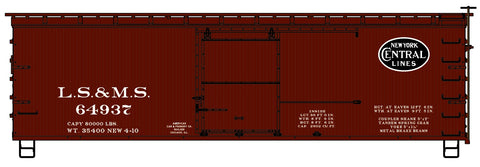 Accurail 1709 HO Lake Shore and Michigan Southern (NYC) 36' Double Sheath Wood Boxcar Kit #64937