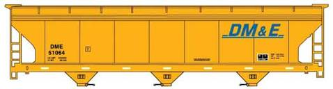Accurail 20722 HO Dakota Minnesota and Eastern ACF 3-Bay Covered Hopper Kit #51064