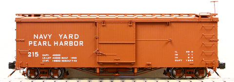 Accucraft AM2201-25 1:20.3 Navy Yard Harbor Box Car in Red #215