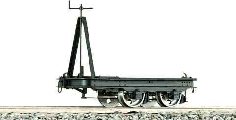 Accucraft B4752 7/8ths Brass Flat Wagon with Brake in Black