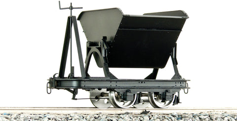 Accucraft B4754 7/8ths Brass Tipper Wagon with Brake in Black