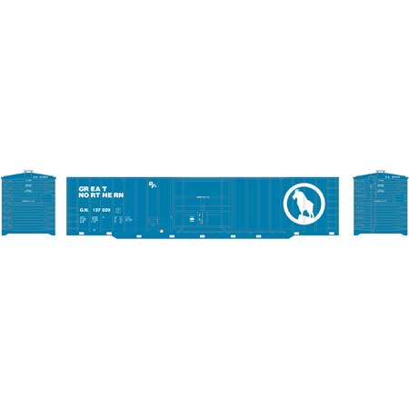 Roundhouse 40144 HO Great Northern 50' OB Plug Door Box #137029