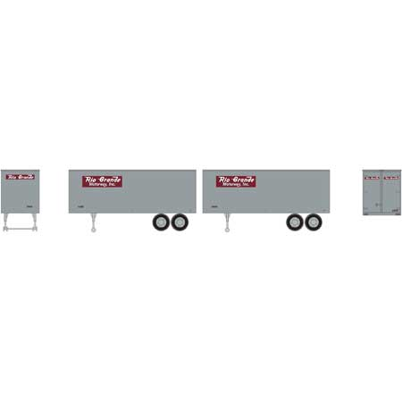 Roundhouse 7917 HO Denver and Rio Grande Western 25' Trailers #2 (Set of 2)