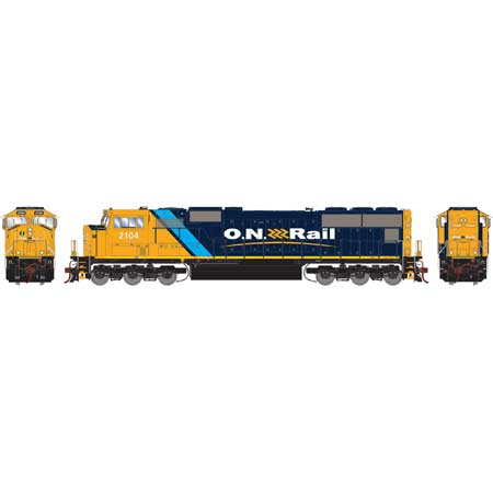 Athearn G69561 HO Ontario Northland Rail SD75I Diesel with DCC & Sound #2104