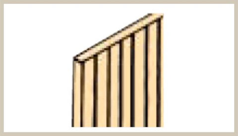 "Northeastern Scale Lumber 70356 1/8"" x 1/32"" x 24"" Scribed Sheathing"