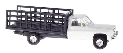 Trident Miniatures 90153W HO Chevrolet White Pickup with Stakebed Body