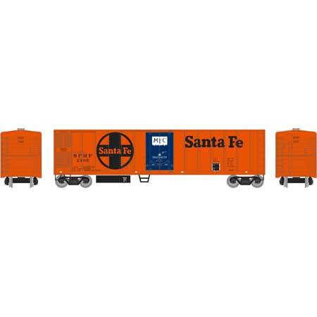Roundhouse 71665 HO Santa Fe 50' Smooth Side Mechanical Reefer #2185