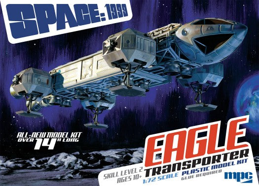 "MPC 913 1:72 Space:1999 14"" Eagle Transporter Plastic Model Kit"