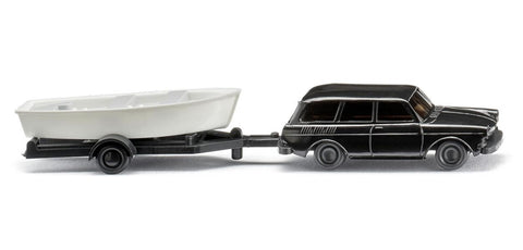 Wiking 092139 N/1:160 Mercedes-Benz 280 & Volkswagen Variant w/Attached Boat