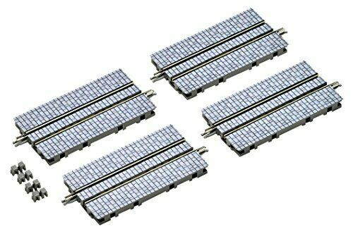 TomyTec 17943 N 140mm Cobblestone Pavement Street Track S140-WT(S) (Pack of 4)