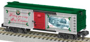 American Flyer 6-48833 S Scale 2013 Christmas Boxcar
