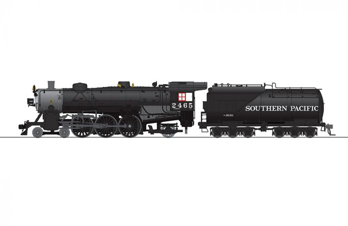 Broadway Limited 5921 HO Southern Pacific Light Pacific 4-6-2 Steam Loco #2465