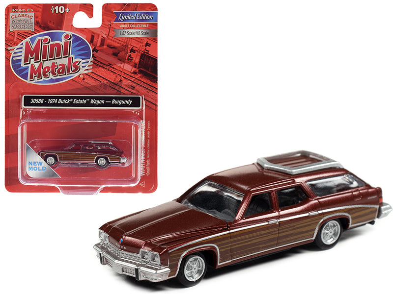Classic Metal Works 30588 HO 1974 Buick Estate Burgundy Wagon