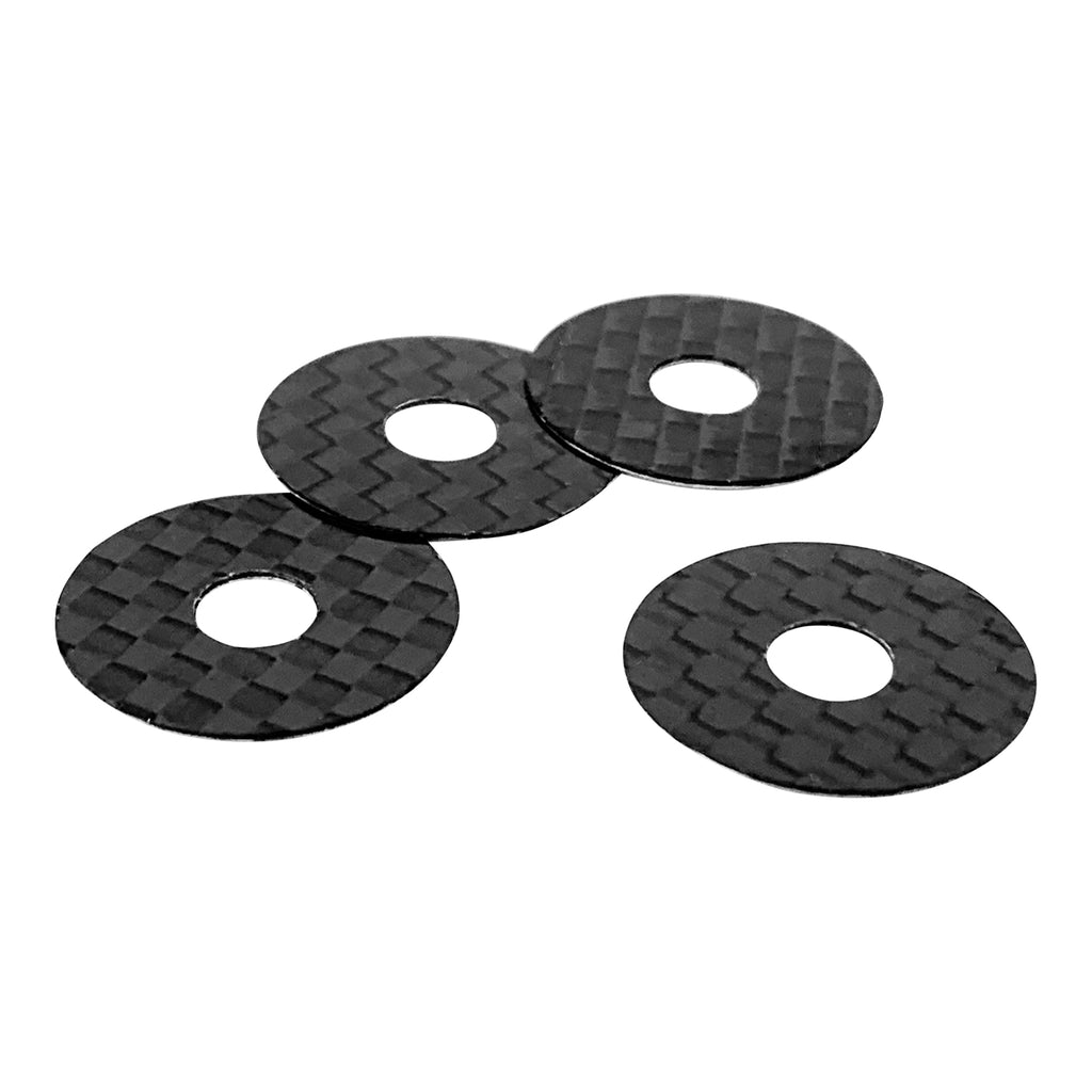 1UP Racing 10402 5mm Post Carbon Fiber Body Hole Protectors (Pack of 4)
