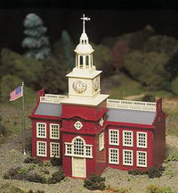 Bachmann 45614 O Plasticville Town Hall Classic Classic Building Kit