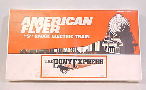 American Flyer 6-49600 S Scale Union Pacific Pony Express Passenger Train Set