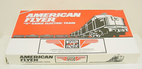American Flyer 6-49604 S Scale Western Pacific PA-1 California Zephyr Passenger Set