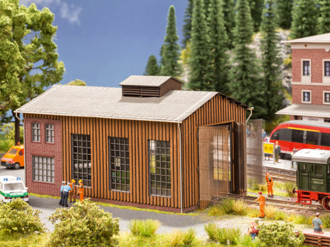 Noch 66201 HO Small Engine Shed w/Gate