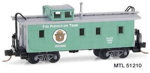 MicroTrains 51210 N Scale Smokey Bear 34' Wood Sheathed Caboose