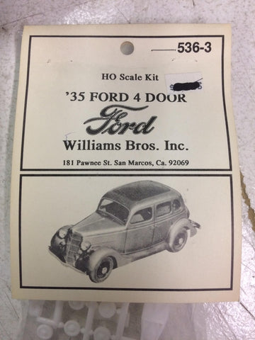 Williams Brothers 536-3 HO 1:87 1935 Ford 4 Door Plastic Kit