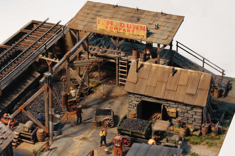 Fine Scale Miniatures 19 HO The IM Dunn Coal Yard Kit