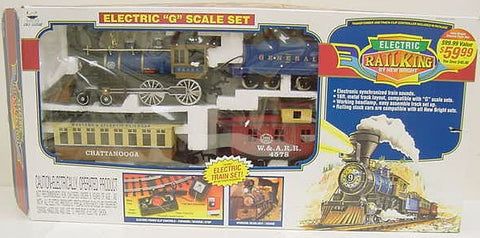 New Bright 376 RailKing Electric Train Set w/ Sounds