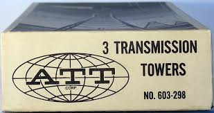 Pola 603-298 HO ATT Corp. Transmission Tower Building Kit (Box of 3)