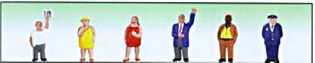 Model Power 6062 O Fat People Figures (Pack of 6)
