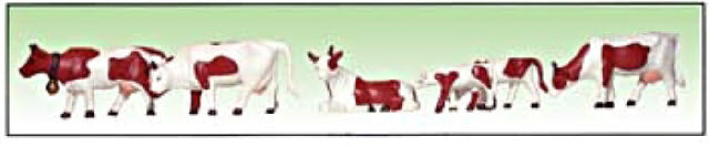 Model Power 6176 Brown & White Cows & Calves Figures