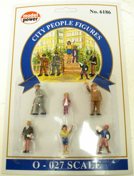Model Power 6186 O Townspeople Figures (Pack of 6)