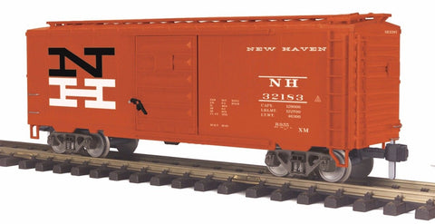 MTH 70-74080 G Scale New Haven Railking 40 ft Box Car with Metal Wheels 32183